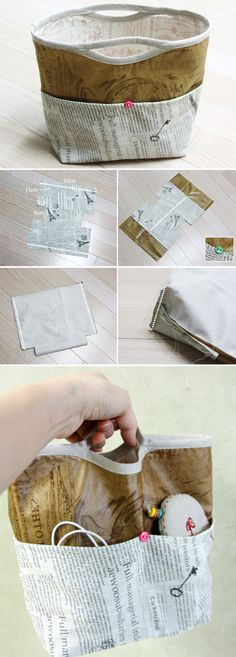 Inner handbag bag / purse bag / organizer bag / insert bag. Tutorial DIY in Pictures. http://www.handmadiya.com/2015/11/purse-organizer.html