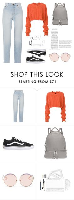 """Untitled #42"" by tatuli-togoxia ❤ liked on Polyvore featuring Yves Saint Laurent, Unravel, Topshop, Michael Kors and N°21"