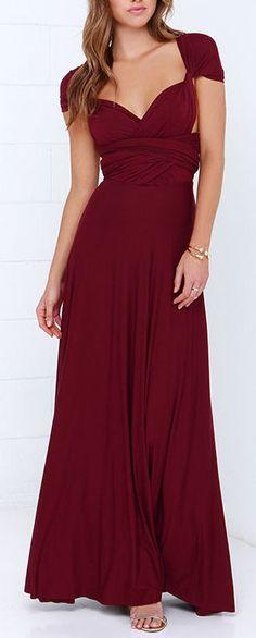 Burgundy Maxi Dress ❤︎