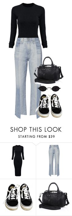 """""""Look:#583"""" by dollarwomanlux ❤ liked on Polyvore featuring WithChic, AG Adriano Goldschmied, Vans and Alexander Wang"""