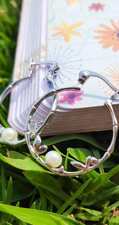 Pendientes de Perla  y acero / Pendientes estilo romántico