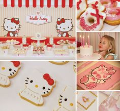 Hello ADORABLE! This Red & White Hello Kitty Birthday Party by Kiss Me Kate is super cute!! #HelloKitty