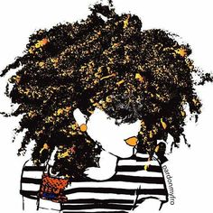 Olive Paperie natural hair art