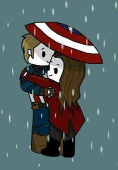 Capitão América e Feiticeira Escarlate