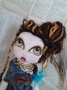 Poupette HELENA art cloth #doll rag doll ooak by Poupettes on Etsy ...