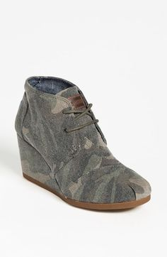 Eeewwwwww! TOMS 'Desert' Wedge Bootie | Nordstrom | please forget these were ever made