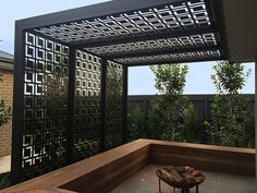 Privacy Screen Outdoor, Outdoor Pergola, Backyard Pergola, Pergola Shade, Pergola Plans, Backyard Landscaping, Pergola Screens, Patio Decks, Metal Garden Screens