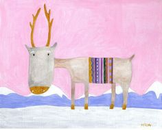 """""""Stag"""" by Ludmila Penouchkina http://www.creativeartworks.cc/i_14398.html"""