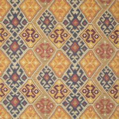 Browse our Sarouk patterned kilim design fabrics in our Kilim range. With luxurious woven fabrics, this Linwood fabric is perfect for upholstery.
