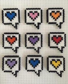 Perler Bead Designs, Easy Perler Bead Patterns, Perler Bead Templates, Hama Beads Design, Diy Perler Beads, Perler Bead Art, Pixel Art, Hamma Beads Ideas, Kawaii Cross Stitch