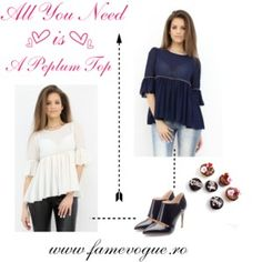 Designer Clothes, Shoes & Bags for Women Peplum Top Outfits, Romantic Look, Style Fashion, That Look, Outfit Ideas, Ruffle Blouse, Valentines, Polyvore, Stuff To Buy