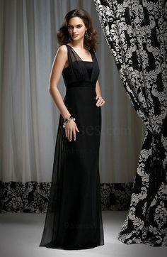 Elegant Zip up Sleeveless Chiffon Floor Length Ribbon Bridesmaid Dress