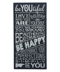 Loving this 'BeYOUtiful' Wall Sign on #zulily! #zulilyfinds