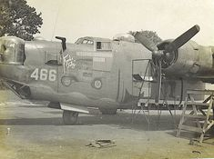 "B-24 ""FORD's FOLLY "" The crew chief was M/Sgt Art Knipe, part of the original cadre and one of the oldest crew chiefs."