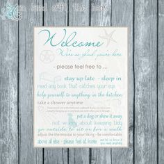 personalized guest room rules digital print by onandoffthehook, $9.00