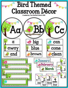 Bird Themed Classroom Decor!