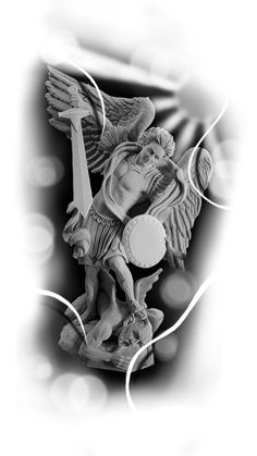Chest Tattoo, I Tattoo, Tattoo Studio, Pharaoh Tattoo, St Michael Tattoo, Religion Tattoos, Photoshop Tattoo, Fallen Angel Art, Angel Drawing