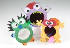 Monster Tin Can Pen Holder. Tin Can, Crafts From Recycling, Homemade Furniture Kids Crafts, Preschool Crafts, Felt Crafts, Crafts To Make, Arts And Crafts, Paper Crafts, Monster Party, Porcelain Dolls For Sale, Pumpkin Crafts
