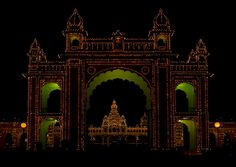 Maharaja's Palace Illuminated at Night, Mysore, Karnataka, India - Flickr - Photo Sharing!