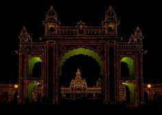 Maharaja's Palace Illuminated at Night, Mysore, Karnataka, India - Flickr - Photo Sharing!