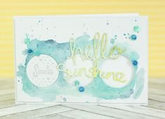 Crafting ideas from Sizzix UK: Summer Card with Watercolors - Hello Sunshine