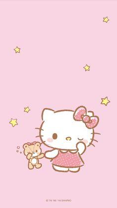 Wallpaper anime kawaii hello kitty ideas for 2019 Sanrio Wallpaper, Hello Kitty Iphone Wallpaper, New Wallpaper Iphone, Hello Kitty Backgrounds, Trendy Wallpaper, Kawaii Wallpaper, Cartoon Wallpaper, Pink Wallpaper Anime, Phone Wallpapers