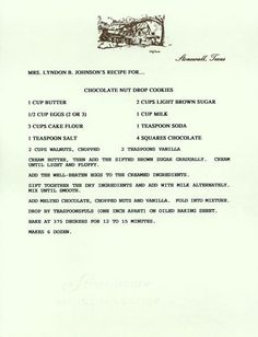 Dying for Chocolate: First Ladies Chocolate Recipes for Presidents Day
