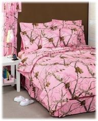 Pink Camouflage Bedding