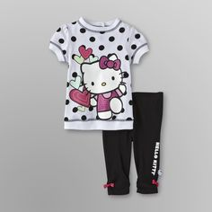 Sears Baby Clothes Sears  Hello Kitty Infant Girls Tshirt Dress & Leggings  Baby
