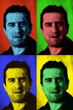 ROBERT DE NIRO celebrity ACTOR pop art poster MULTIPLE IMAGES 24X36 colorful Brand New. 24x36 inches. Will ship in a tube. - Multiple item purchases are combined the next day and get a discount for do