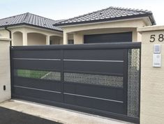 Home Gate Design, House Main Gates Design, Main Entrance Door Design, Steel Gate Design, Front Gate Design, Modern Entrance, Entrance Gates, House Design, Gate Designs Modern
