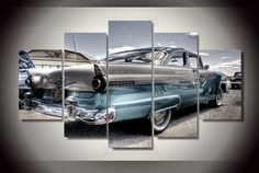 The legendary Ford Fairlane in a skyblue hue.Accessories needed for wall-attachement are provided with all of our canvas-products. Ford Fairlane, Summer Sale, Free Shipping, Cars, Live, Stuff To Buy, Products, Self, Autos