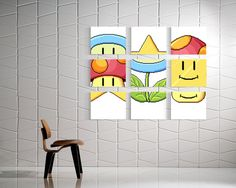 Steal this idea... Mario Match - 9 Stretched Canvas Prints