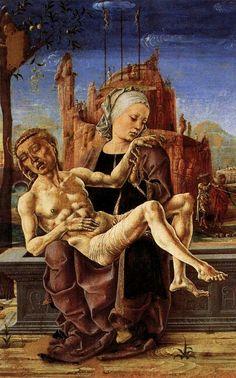 Cosme' Tura - Pietà 1455 - Venezia Museo Correr