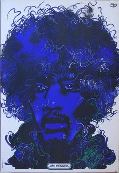 Jimi Hendrix by Polish artist Waldemar Swierzy