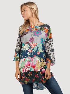 Johnny Was: Morning Meadow Patchwork Poncho - I LOVE Johnny Was! This would be an awesome present...and the only one you would have to buy. Why do I have such expensive taste?