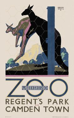 London Zoo by Underground. By Gregory Brown, 1927 Transport Map, London Transport, Transport Posters, London Travel, Transportation Posters, Public Transport, Vintage London, Old London, Zoo Art