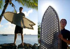 d76a640714 Amazing work of Mike Sheldrake. He builds surfboards from corrugated  cardboard. Definitely inspiring !