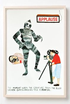 Art Humor Words Vintage Poster Vintage Movies Black by retrowhale