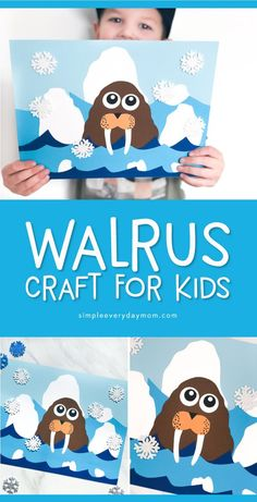 -Walrus Arctic Animal Craft For Kids Polar Animal Activity F.- Walrus Arctic Animal Craft For Kids Polar Animal Activity For Kids Animal Activities For Kids, Winter Activities For Kids, Animal Crafts For Kids, Winter Crafts For Kids, Winter Kids, Crafts For Kids To Make, Craft Activities, Art For Kids, Craft Kids
