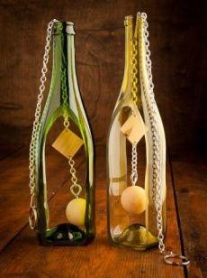 Wine bottle crafts on pinterest wine bottles wind for Wine bottle crafts for sale