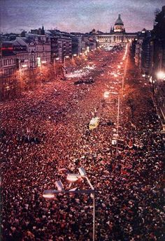 1989: the Velvet Revolution in Prague, the capital of what was then Czechoslovakia.