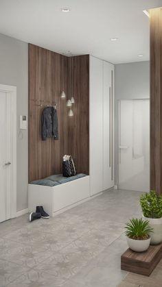 Hall Interior, Apartment Interior, Apartment Design, Home Interior Design, Interior Architecture, Foyer Design, Hallway Designs, Hall Design, Home Entrance Decor