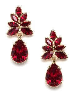 Ruby red earrings by Caught my eye