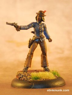 Latigo Pistolero 1 of 3, First Edition. Model by Wyrd Miniatures, painted by Stinkmunk (2012). #Malifaux