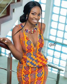 39 Stunning Kente Styles Mixed With Lace Attires For African American Women