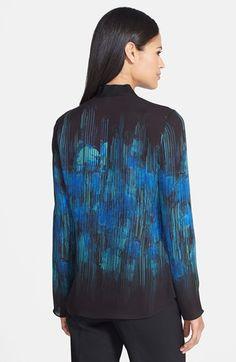 Elie Tahari 'Carmen' Print Silk Georgette Blouse | Nordstrom