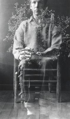 lecollecteur:  Robert Rauschenberg, Postcard Self-Portrait, Black Mountain, 1952.