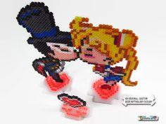 Sailor Moon Tuxedo Mask Anime Pixel-Art Hochzeit von GeeksatHeart