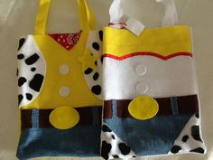Sacolinha do toy story Toy Story Theme, Toy Story Party, Toy Story Birthday, Jessie Toy Story, Crafts To Make And Sell, Diy And Crafts, Fantasias Toy Story, Bolos Toy Story, Toy History